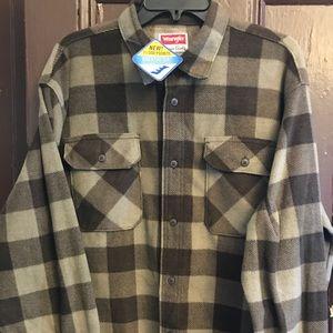 Wrangler Khaki-Beige Button Shirt  (L-XL)